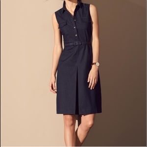 Halogen Denim Sleeveless button down dress   4